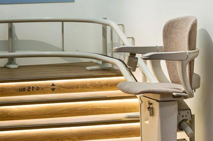 curved stair lift installation